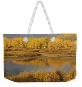 Autumn Foliage Surrounds A Pool In The Weekender Tote Bag