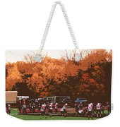 Autumn Football With Cutout Effect Weekender Tote Bag