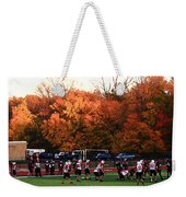 Autumn Football With Dry Brush Effect Weekender Tote Bag