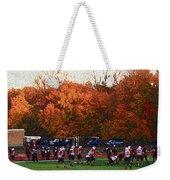 Autumn Football With Sponge Painting Effect Weekender Tote Bag