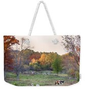 Autumn Forage Before Winter's Arrival Weekender Tote Bag