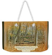 Autumn Forest - George Washington Carver Quote Weekender Tote Bag