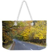 Autumn Forest Road Weekender Tote Bag