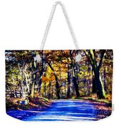 Autumn Forest Road V6 Weekender Tote Bag
