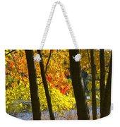 Autumn Forest Scene Weekender Tote Bag