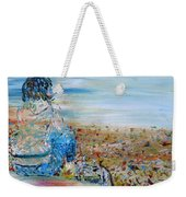 Autumn - Girl At The Lake Weekender Tote Bag