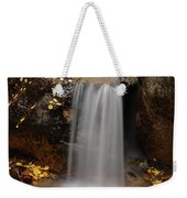 Autumn Gold And Waterfall Weekender Tote Bag by Leland D Howard