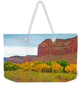 Autumn Gold On Highway 211 Going Into Needles District Of Canyonlands National Park-utah   Weekender Tote Bag