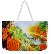 Autumn Harvest Fall Delight Weekender Tote Bag