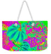 Autumn Harvest In Green And Purple - Pop Art Weekender Tote Bag