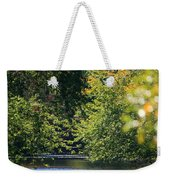 Autumn Highlights On The Quinnebaug River Weekender Tote Bag