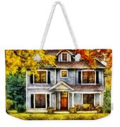 Autumn - House - Cottage  Weekender Tote Bag by Mike Savad