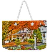 Autumn - House - The Beauty Of Autumn Weekender Tote Bag by Mike Savad