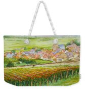 Autumn In Epernay In The Champagne Region Of France Weekender Tote Bag