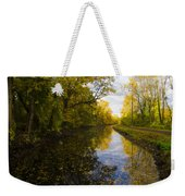 Autumn In Morrisville Pa Along The Delaware Canal Weekender Tote Bag
