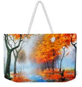 Autumn In The Morning Mist Weekender Tote Bag