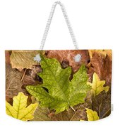 autumn is coming 5 - A carpet of autumn color leaves  Weekender Tote Bag