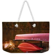 Autumn Kayaks On Newport Lake Weekender Tote Bag