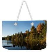 Autumn Lake In The Forest - Reflection Tranquility Weekender Tote Bag