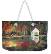 Autumn - Lake - Reflecton Weekender Tote Bag