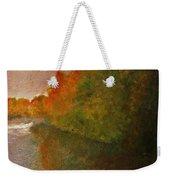 Autumn Lake View  Weekender Tote Bag