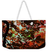 Autumn Leaf Abstract Weekender Tote Bag