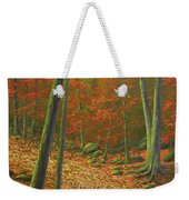Autumn Leaf Litter Weekender Tote Bag