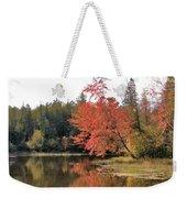 Autumn Leaning Tree Weekender Tote Bag