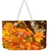 Autumn Leaves Art Print Yellow Orange Weekender Tote Bag