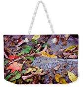 Autumn Leaves In Creek Bed Weekender Tote Bag