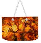 Autumn Leaves Oil Weekender Tote Bag