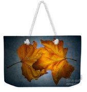 Autumn Leaves On Blue Weekender Tote Bag