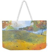 Autumn Leaves Panel 2 Of 2 Weekender Tote Bag