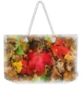 Autumn Leaves Photo Art 04 Weekender Tote Bag