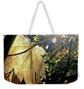 Autumn Light On Leaf Weekender Tote Bag