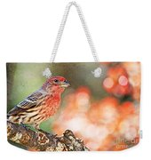 Autumn Male House Finch 1 Weekender Tote Bag
