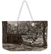 Autumn Mill Sepia Weekender Tote Bag