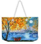 Autumn Moon Weekender Tote Bag