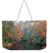 Autumn Mountain Stream Weekender Tote Bag