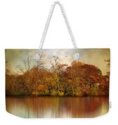 Autumn On A Pond Weekender Tote Bag