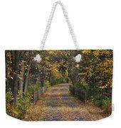 Autumn On Bike Trail  Weekender Tote Bag