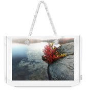 Autumn On Misty Lake Poster Weekender Tote Bag