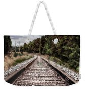 Autumn On The Railroad Tracks Weekender Tote Bag