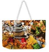 Autumn On The Rocks Weekender Tote Bag