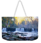 Autumn On The Wissahickon Waterfall Weekender Tote Bag