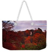 Autumn Pagoda Weekender Tote Bag