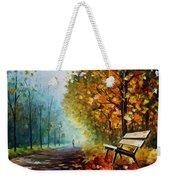 Autumn Park - Palette Knife Oil Painting On Canvas By Leonid Afremov Weekender Tote Bag