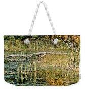 Autumn Pond Scene Weekender Tote Bag