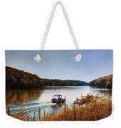 Autumn Pontoon Boating Argyle Lake Weekender Tote Bag