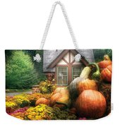 Autumn - Pumpkin - This Years Harvest Was Awesome  Weekender Tote Bag